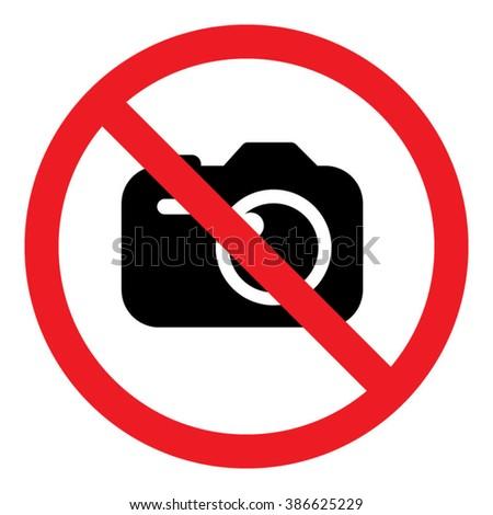 No Photos / Cameras Sign Icon Vector Illustration - stock vector