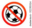 No play or football sign, vector illustration - stock vector