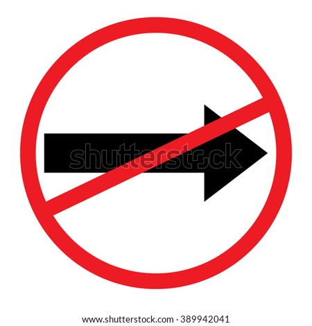 No right sign