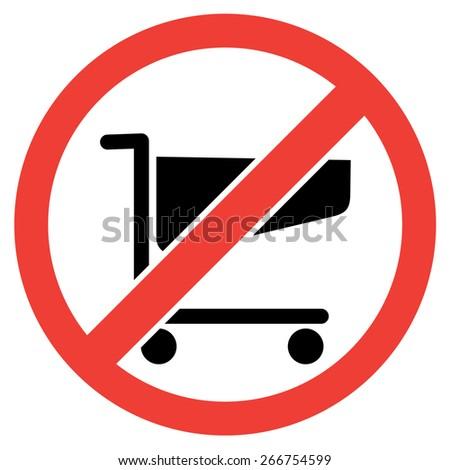 no shopping carts icon. vector illustration - stock vector