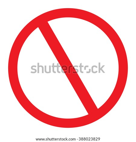 No Sign blank vector icon - stock vector