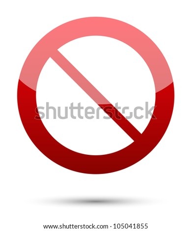 No sign on white background - stock vector
