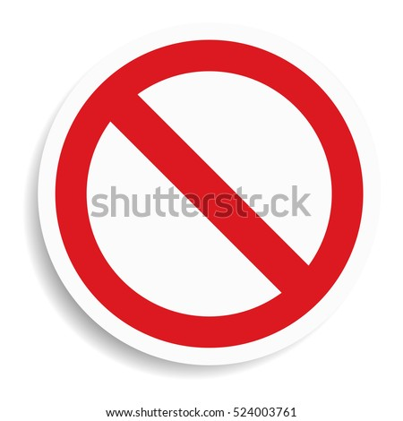 No sign on white background.vector illustration