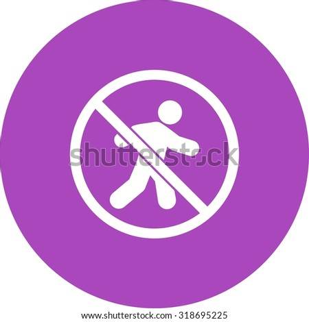 No, sign, pedestrian icon vector image. Can also be used for traffic signs. Suitable for web apps, mobile apps and print media.