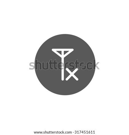 no signal icon - stock vector