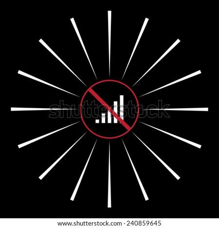 no signal, poor signal strength, signal strength indicator,  vector, EPS 10 - stock vector