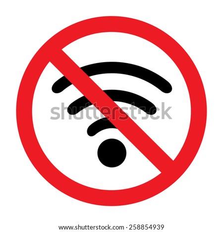 No signal sign - stock vector