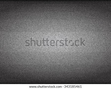 No signal TV screen. Grainy noise vector background. Broadcast analog, blank snow, channel display illustration - stock vector