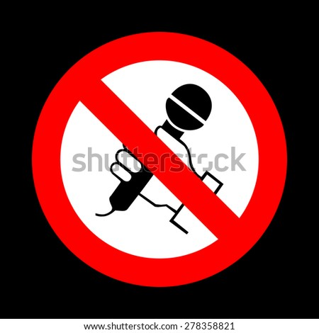 No Spitting Sign On White Backgroundvector Stock Vector ...