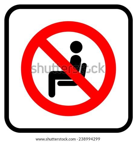 No sitting  - stock vector