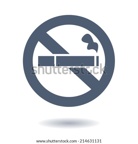 No smoke icon. Stop smoking symbol. Vector illustration. Filter-tipped cigarette. Icon for public places.  - stock vector