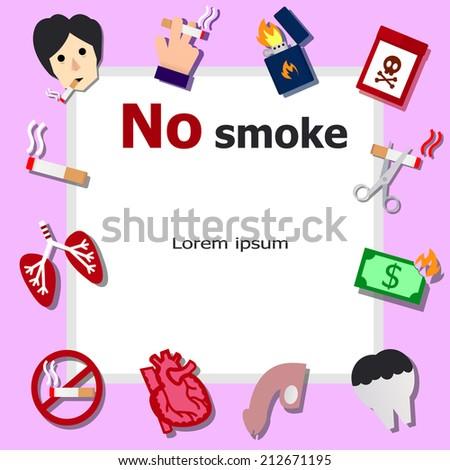 No smoke icons - stock vector