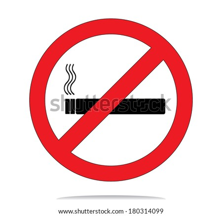No smoke sign, vector illustration.