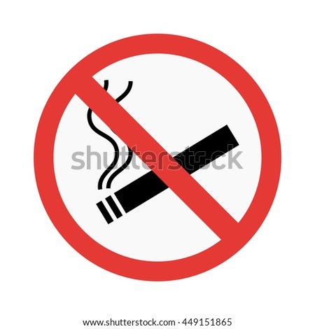 No smoke sign vector illustration - stock vector