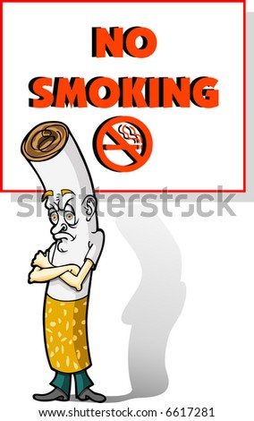 No Smoking! - stock vector