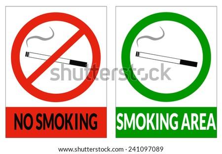 No smoking and smoking area - stock vector