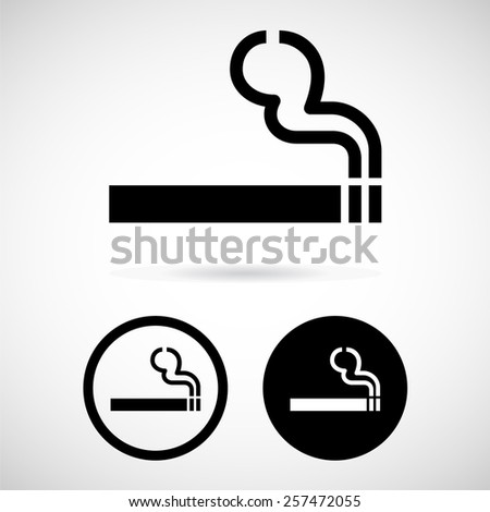 No smoking and Smoking area labels, vector illustration - stock vector