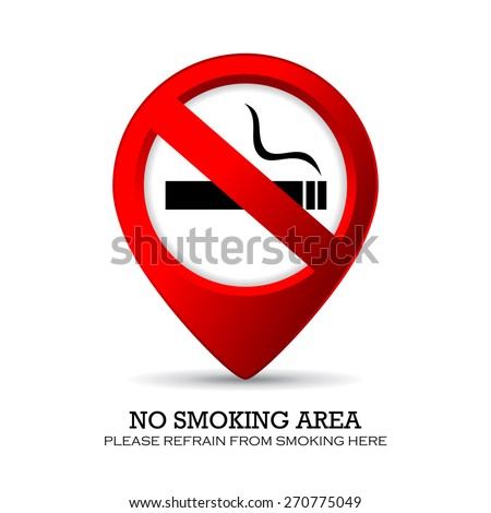 No smoking area marker - stock vector
