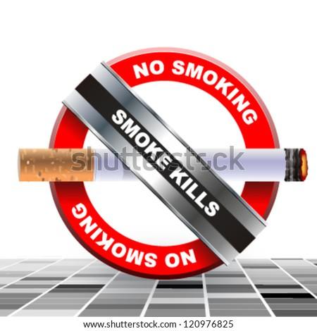 no smoking background. vector design - stock vector