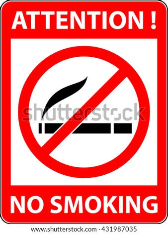No smoking, cigarette, smoke and cigar prohibited symbol. Sign indicating the prohibition or rule. Warning and forbidden. Flat design. Vector illustration. Easy to use and edit. EPS10. - stock vector