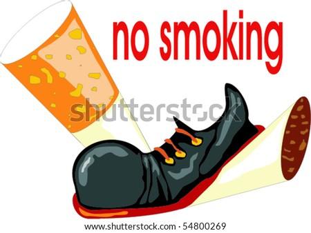 No smoking concept - stock vector