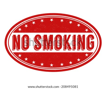 No smoking grunge rubber stamp on white background, vector illustration - stock vector