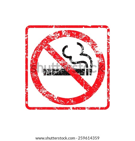 No smoking grunge rubber stamp on white background, vector illustration. - stock vector