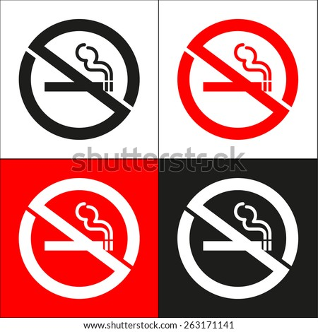No smoking  icon great for any use. Vector EPS10. - stock vector
