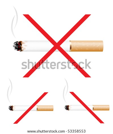 No smoking icon isolated on the white background - stock vector