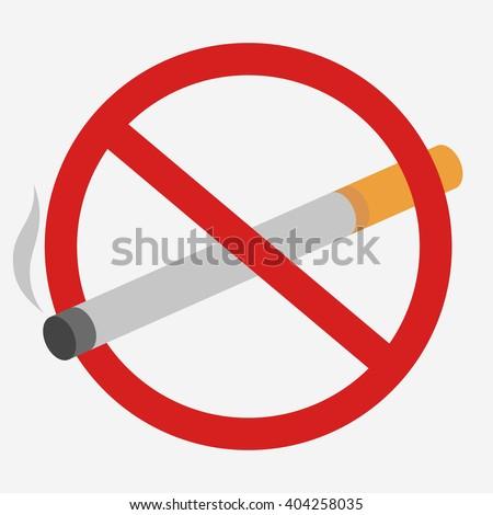 No Smoking prohibiting sign. No Tobacco Day. No Smoking Illustration on white background, No Smoking picture, No Smoking red web icon, No Smoking vector image - stock vector