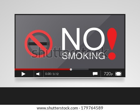 No smoking sign. - stock vector