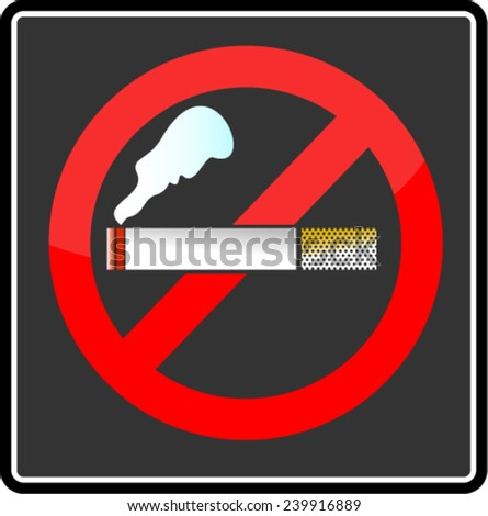 no smoking, sign - stock vector