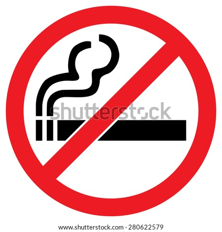 no smoking sign stock vector. Black Bedroom Furniture Sets. Home Design Ideas