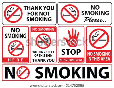 no smoking sign, easy to modify - stock vector
