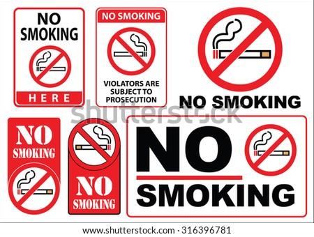 no smoking sign, easy to modify - stock vector