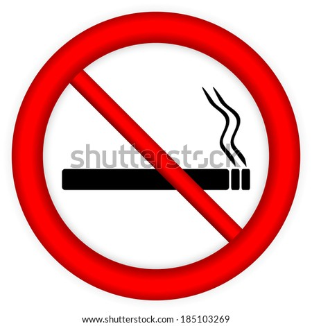 No smoking sign icon on white background.