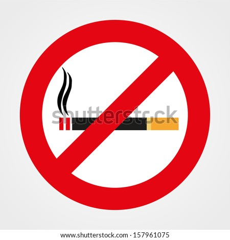 No smoking sign, isolated on white background