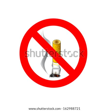 No smoking sign isolated on white background - stock vector