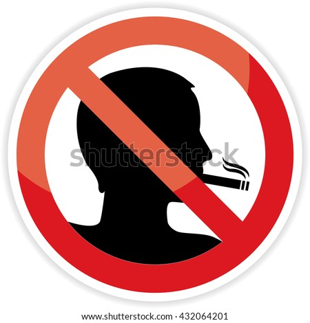 No smoking sign on white background.vector illustration. - stock vector
