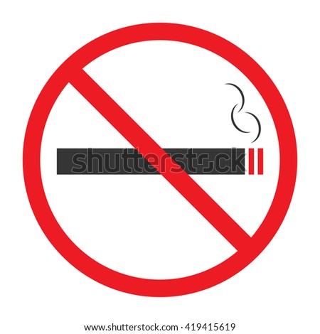 No smoking sign on white background vector Illustration,No smoking sign vector,No smoking sign Illustration,No smoking sign symbol . - stock vector
