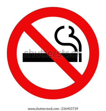 No smoking sign. Smoking prohibited symbol isolated on white background - stock vector
