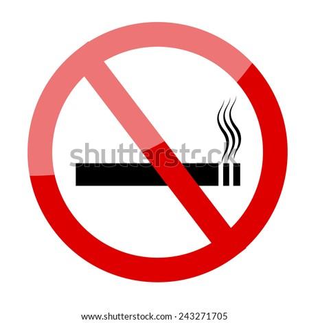 No smoking sign. Smoking prohibited symbol isolated on white background - stock vector