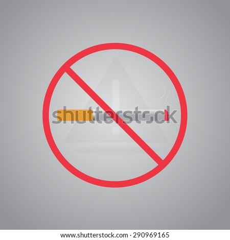 No smoking sign.Stop smoking symbol. Vector illustration. Filter-tipped cigarette. Icon for public places. - stock vector