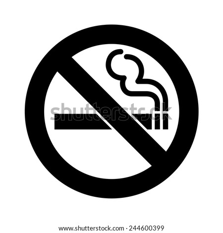 No smoking sign vector - stock vector