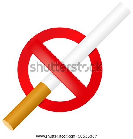 No Smoking sign. Vector. - stock vector