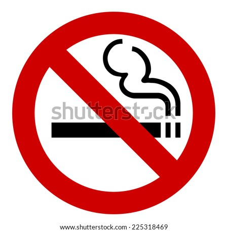 no smoking sign - vector illustration - stock vector