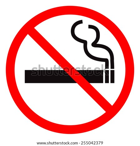 No smoking sign. Vector illustration. - stock vector