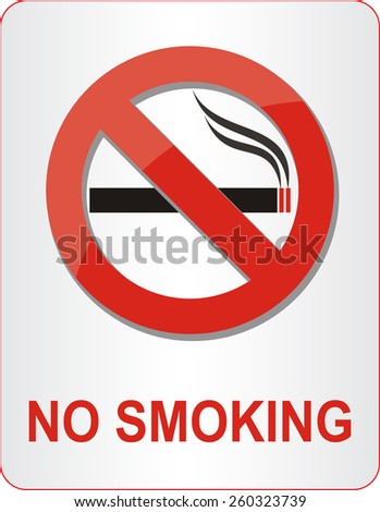 No smoking sign. Vector illustration.