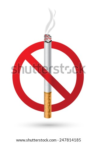 no smoking sign vector illustrations - stock vector