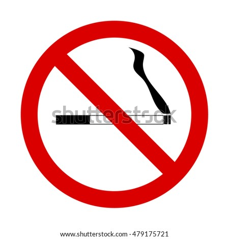 No smoking sign vector on white background